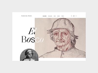 Museo del Prado. Artist page design minimal animation web ui ux