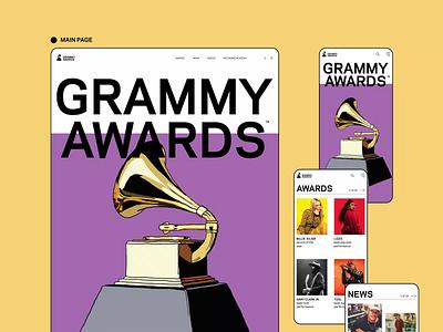 Grammy website web ux ui typography photoshop design branding app