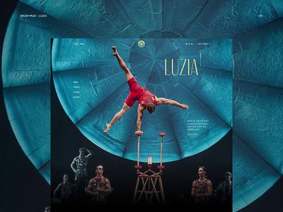 Cirque du Soleil minimal website web ux ui typography photoshop design branding app