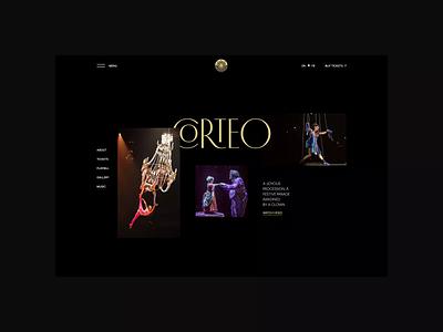 Cirque du Soleil. Corteo animation minimal website web ux ui typography photoshop design branding app