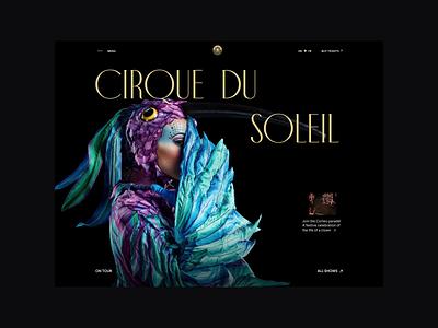 Cirque du Soleil redesign. Main page animation website typography photoshop branding minimal web design ui ux
