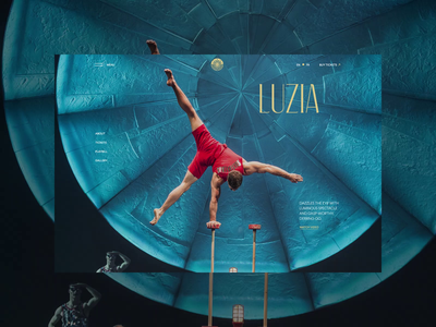 Cirque du Soleil redesign. Luzia website animation typography photoshop minimal branding web design ui ux