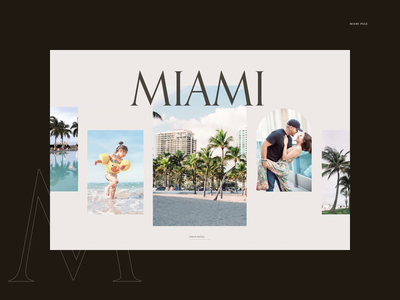 Four Seasons — Website redesign. Miami animation website typography photoshop branding minimal web design ui ux
