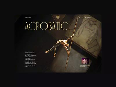 Cirque du Soleil redesign. Arcobatic animation website typography photoshop branding minimal web design ui ux