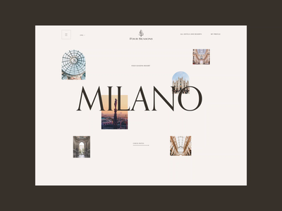 Four Seasons. Milano animation website typography photoshop branding minimal web design ui ux