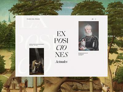 Museo del Prado. Lampecia y Febe (fabula) animation website typography photoshop branding minimal web design ui ux