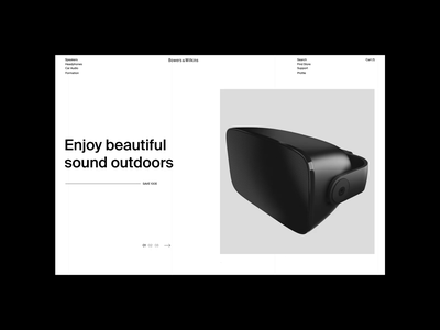 Bowers&Wilkins. Main Page. Concept 1 animation website typography photoshop branding minimal web design ui ux