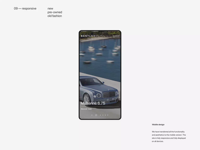 Bentley. Key Page. Mobile animation website typography photoshop branding minimal web design ui ux