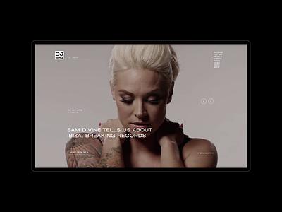 DJ Mag. Artists app animation website typography photoshop branding minimal web design ui ux
