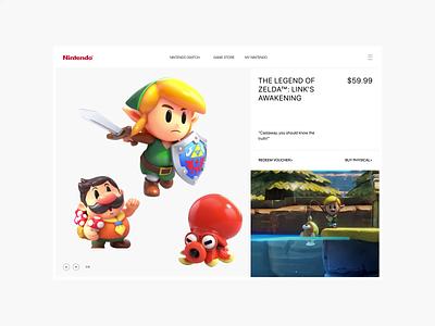 Nintendo. The Legend of Zelda animation website typography photoshop branding minimal web design ui ux