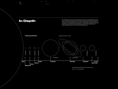 NASA. Jupiter animation website typography photoshop branding minimal web design ui ux