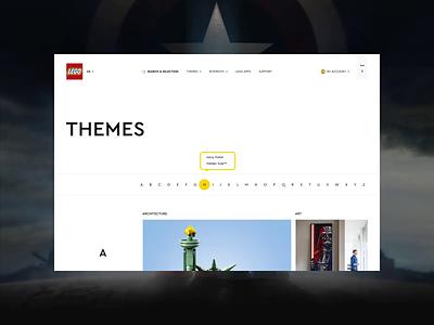 Lego — New Website 2020. Themes animation website typography photoshop branding web minimal ui design ux
