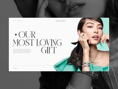 Tiffany & Co — redesign website. Main animation website typography photoshop branding minimal web design ui ux
