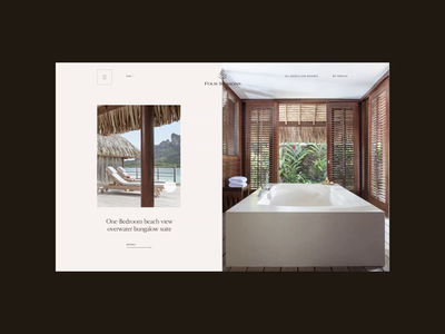 Four Seasons. Bora-Bora animation website typography photoshop branding minimal web design ui ux