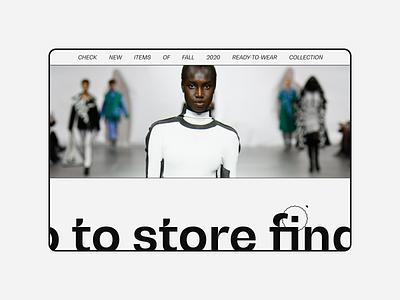 Issey Miyake — UX/UI Concept. Brand page animation website typography photoshop branding minimal web design ui ux
