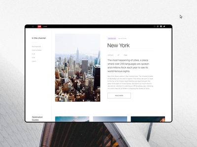 CNN - News portal redesign. Destination animation website typography photoshop branding minimal web design ui ux