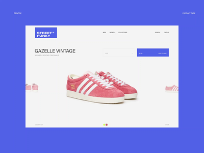 Street Funky. Product page animation website typography photoshop branding minimal web design ui ux