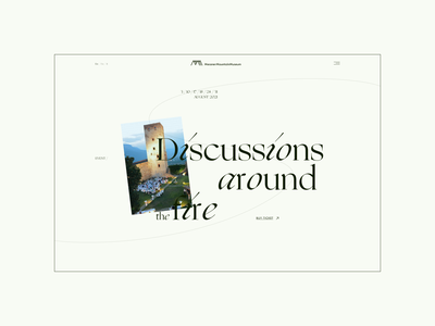 Messner Mountain Museum ― New Website '21. Event page animation website typography photoshop branding minimal web design ui ux