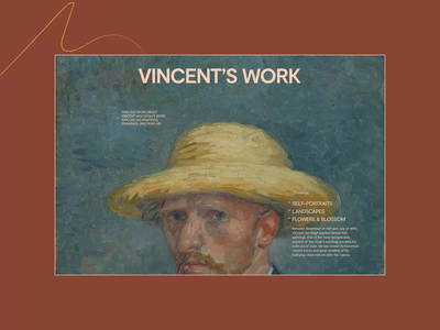 Van Gogh Museum — Website Redesign Concept. More about artist branding animation website typography photoshop minimal web ui design ux