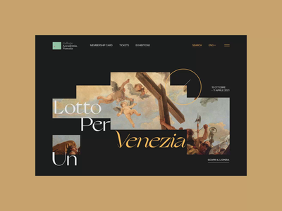 Gallerie dell'Accademia di Venezia. Main animation website typography photoshop branding minimal web ui design ux