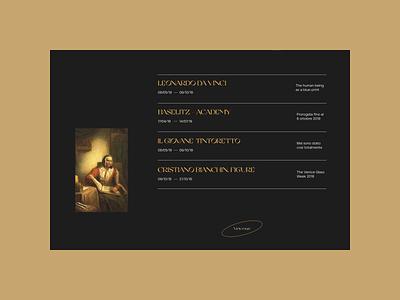 Gallerie dell'Accademia di Venezia. Main animation website typography photoshop branding minimal web ui design ux