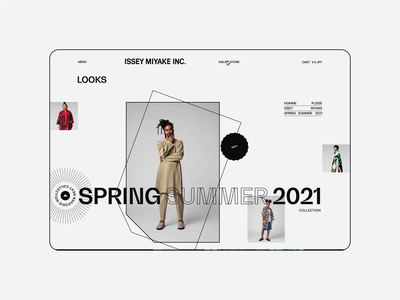 Issey Miyake — UX/UI Concept. Spring/summer 21 animation website typography photoshop branding minimal design ui ux web