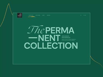 Van Gogh Museum — Website Redesign Concept. The permanent collec animation website typography photoshop branding minimal web ui design ux
