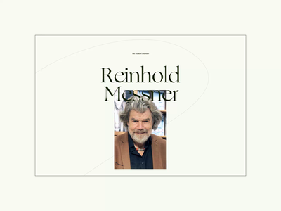 Messner Mountain Museum ― New Website '21. Reinhold Messner animation app website typography photoshop minimal web design ui ux