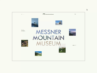 Messner Mountain Museum ― New Website '21. Main page app animation website typography photoshop minimal web design ui ux