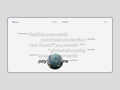 PayPal. Overview app animation website typography photoshop minimal design ui ux web