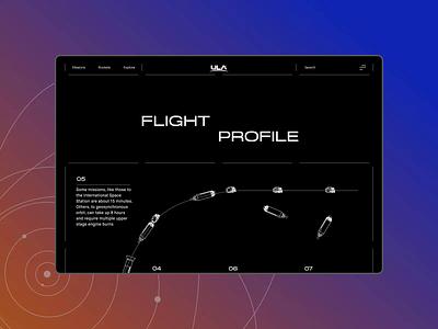 ULA — New Website. Flight Profile app animation website typography photoshop minimal web design ui ux