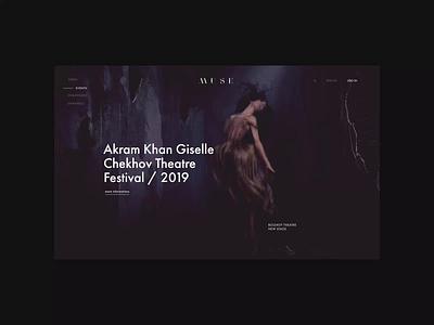 MUSE. Main animation branding typography photoshop minimal web design ui ux