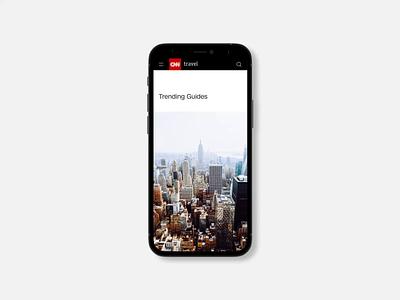 CNN - News portal redesign. Mobile animation photoshop minimal web ux design ui