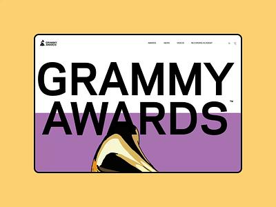 GRAMMY AWARDS — New Website 2020. Main animation typography photoshop minimal design ui web ux