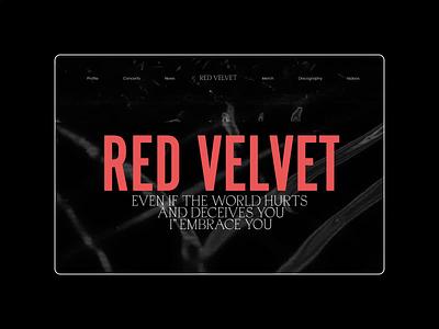 Red Velvet — K-Pop Band Website. Main animation photoshop minimal ui design ux web