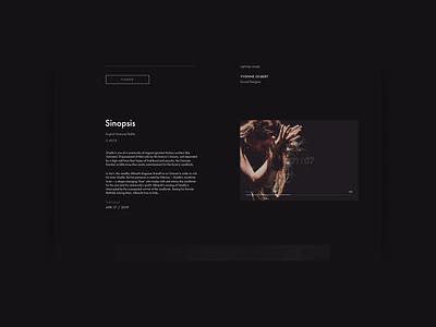MUSE. Giselle animation typography photoshop minimal web ux design ui