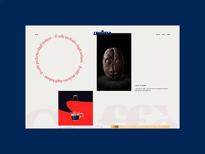 Lavazza — Amazing New Website. Catalogo Caffe animation typography photoshop minimal web ux design ui