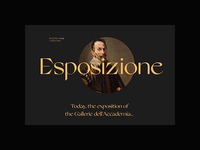 Gallerie dell'Accademia di Venezia. Museum hall animation typography photoshop minimal web ux design ui