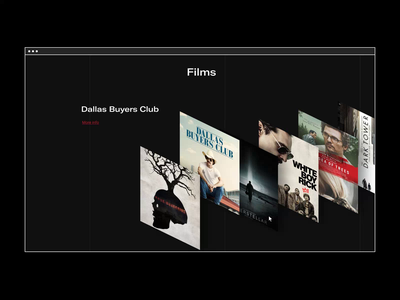 Netflix - New Website 2020. McConaughey animation minimal web ux design ui