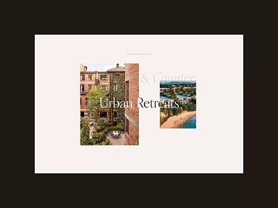 Four Seasons. Vacation Style animation minimal web ux design ui