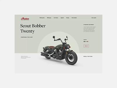 Indianmotors. Models animation minimal web ux design ui