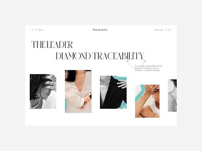 Tiffany & Co — redesign website. Diamonds animation minimal web ux design ui