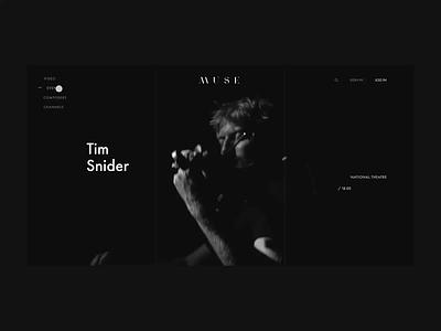Muse. Tim Snider animation minimal web ux design ui