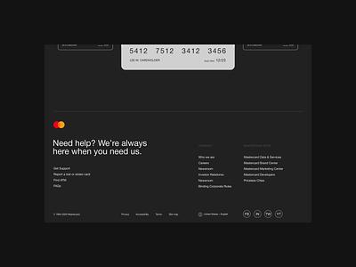 Mastercard — website redesign. Find & card animation minimal web ux design ui