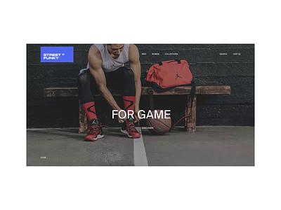 STREET FUNKY — E-Store. Home animation minimal web ux design ui