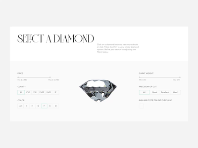 Tiffany & Co — redesign website. Catalog & Product Page animation minimal web ux design ui