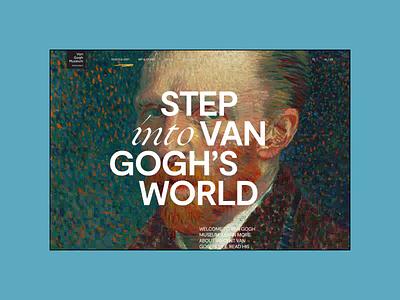 Van Gogh Museum — Website Redesign Concept. Collection animation minimal web ux design ui
