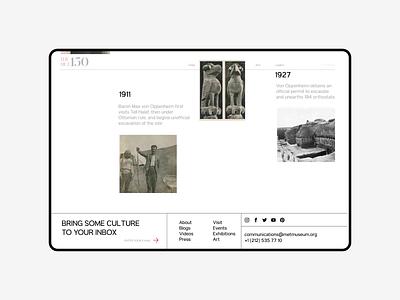 The Met Museum. Exhibitions animation minimal web ux design ui