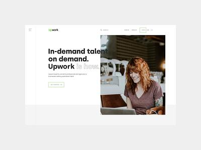 Upwork — new design. Main Page animation minimal web ux design ui