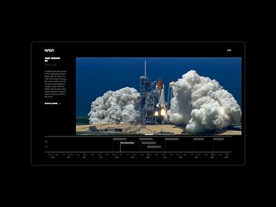 NASA. Main animation minimal ux web design ui